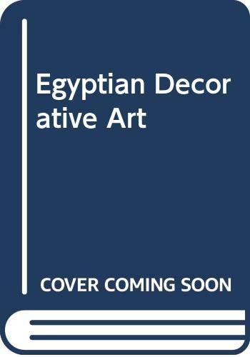 9780405088490: Egyptian Decorative Art