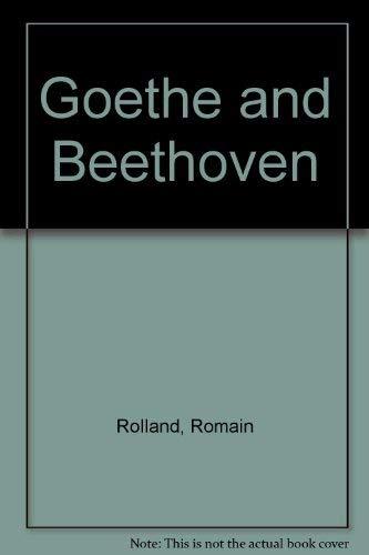 9780405088964: Goethe and Beethoven
