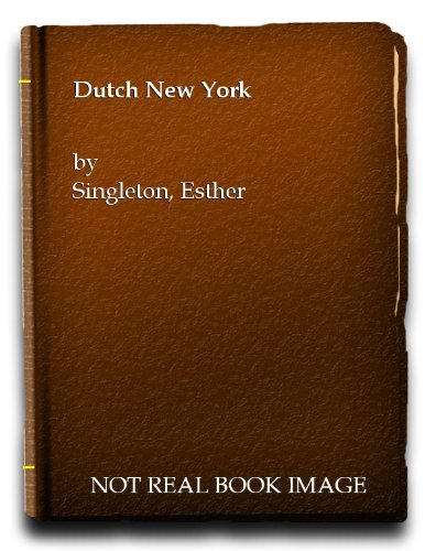 9780405089725: Dutch New York