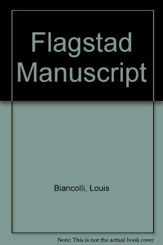 9780405096778: Flagstad Manuscript (Opera biographies)