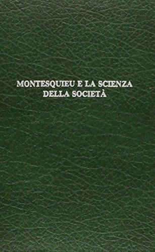 Montesquieu E LA Scienza Della Societa (European: Cotta, Sergio