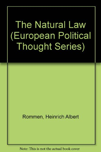 9780405117329: The Natural Law (European Political Thought Series)