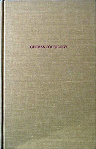 9780405120831: German Sociology (Perennial Works in Sociology)