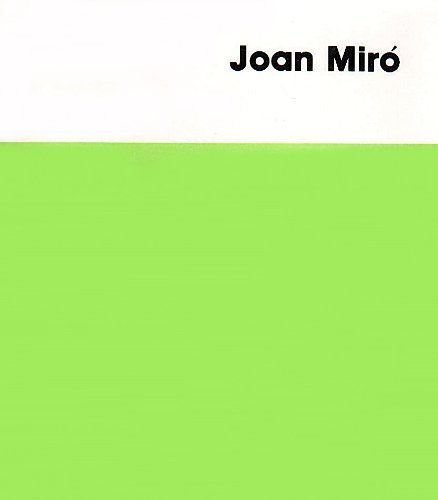 Joan Miro reprint: Soby, James;Miro, Joan