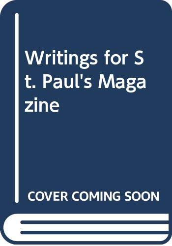 9780405141164: Writings for St. Paul's Magazine (Selected works of Anthony Trollope)