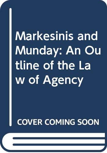 9780406001450: An Outline of the Law of Agency