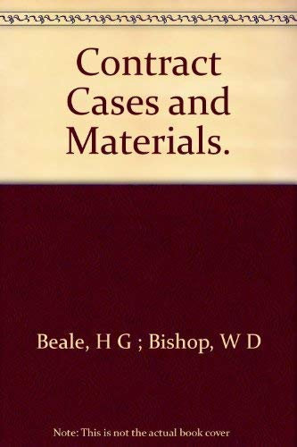 Contract - Cases and Materials: H. G.; Bishop,