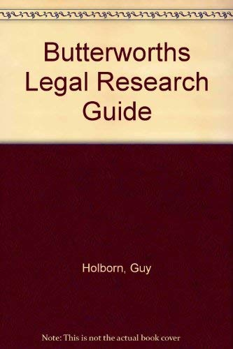 9780406005960: Butterworths Legal Research Guide