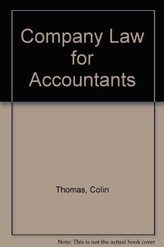 9780406009609: Company Law for Accountants