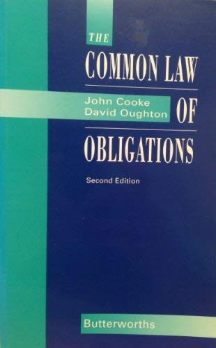 9780406011541: The Common Law of Obligations