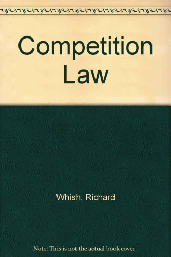9780406012791: Competition Law