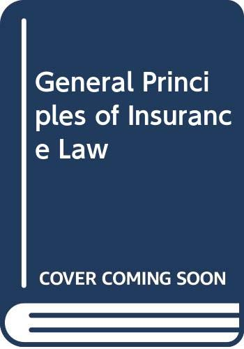 9780406013125: General Principles of Insurance Law