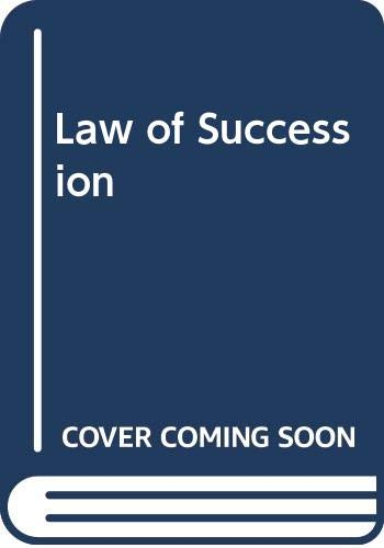 9780406024381: Mellows: The Law of Succession