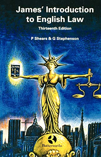 9780406024459: James' Introduction to English Law