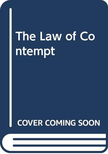 9780406026774: The Law of Contempt