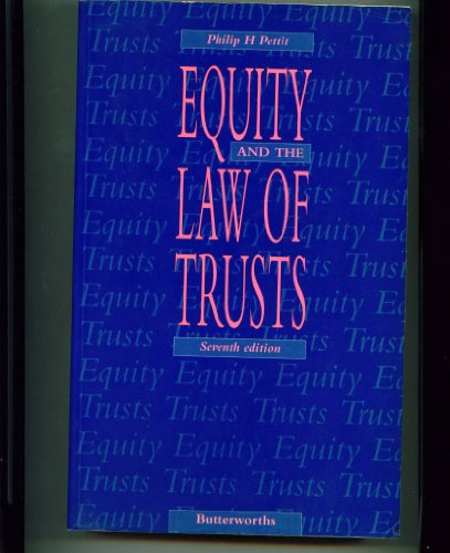 9780406027696: Equity and the Law of Trusts