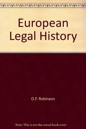 9780406029768: European Legal History