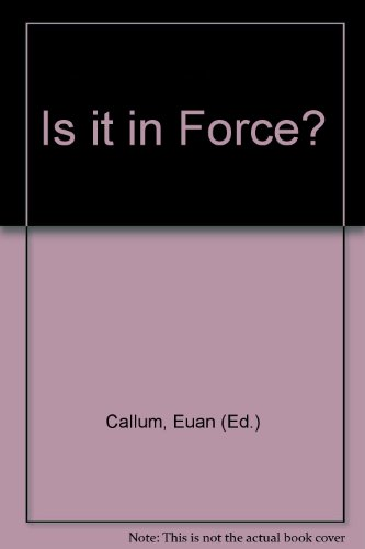 Is It in Force? 1995 : A Guide to the Commencement of the Statutes of England and Wales and of ...