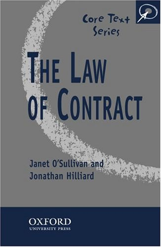 9780406033116: The Law of Contract (Core Texts Series)