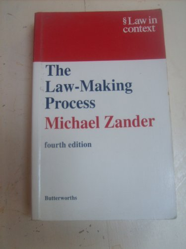 9780406035028: The Law-Making Process (Law in Context)
