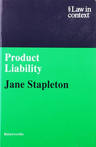 9780406035035: Product Liability (Law in Context)