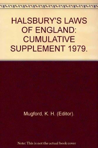 9780406036735: HALSBURY'S LAWS OF ENGLAND: CUMULATIVE SUPPLEMENT 1979.