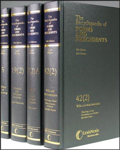 9780406044242: Encyclopaedia of Forms and Precedents