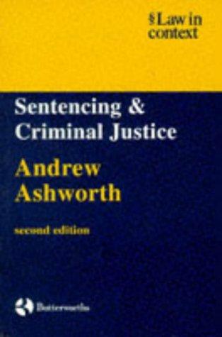 9780406045386: Sentencing and Criminal Justice