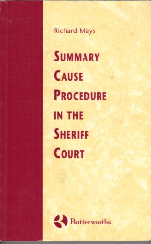 9780406046574: Mays: Summary Case Procedure in the Sheriff Court