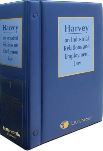 9780406048110: Harvey on Industrial Relations and Employment Law (5 Vol Set)
