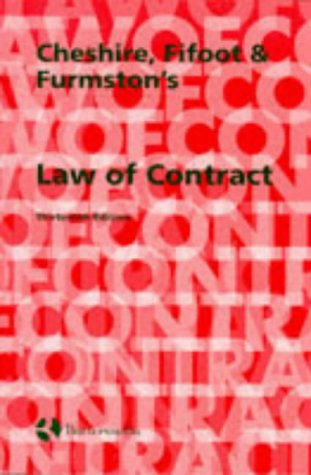 9780406049643: Cheshire Fifoot and Furmston's Law of Contract