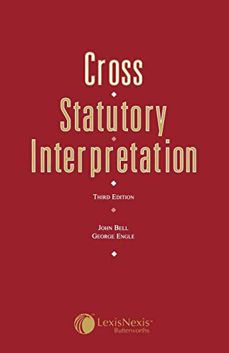 9780406049711: Cross: Statutory Interpretation