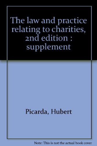 The law and practice relating to charities, 2nd edition : supplement: Picarda, Hubert