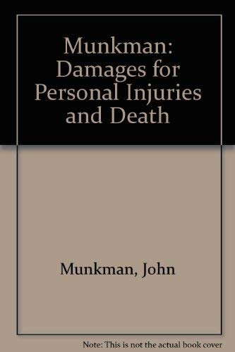 9780406053602: Munkman: Damages for Personal Injuries and Death