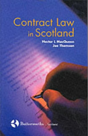 9780406053978: Contract Law in Scotland