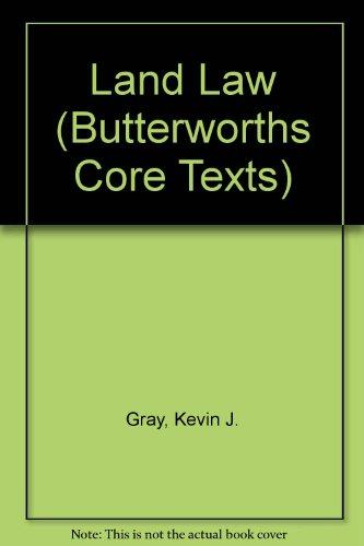 9780406056016: Land Law (Butterworths Core Texts)