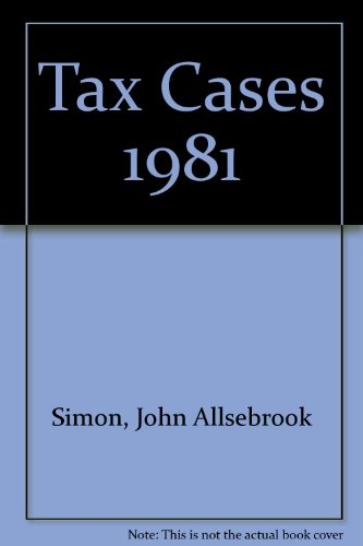 Simon's Tax Cases 1981: Krishnan, R.