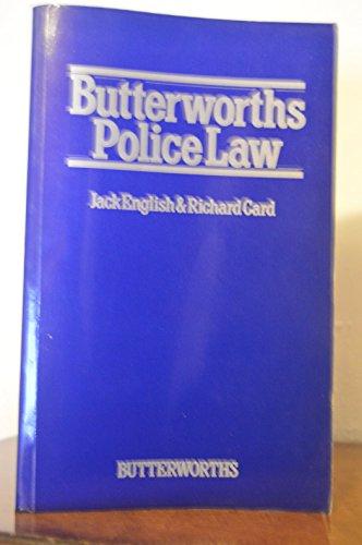 9780406073006: Butterworths Police Law