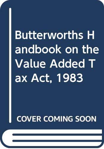 Butterworths Handbook on the Value Added Tax