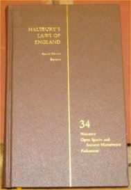 Halsbury's Laws of England, Fourth Edition, Reissue, Volume 34: Unknown, Unknown