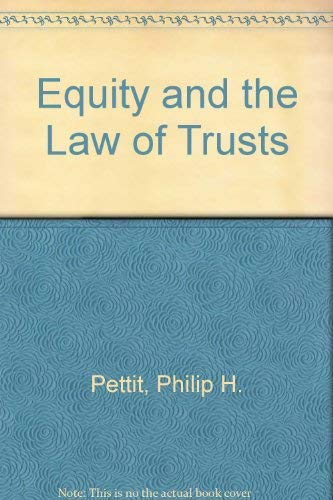 9780406081759: Equity and the Law of Trusts