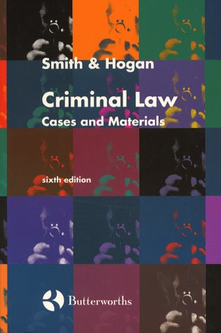 9780406081889: Criminal Law: Cases and Materials