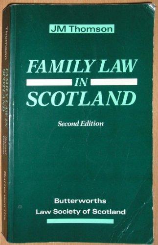 9780406105769: Family Law in Scotland