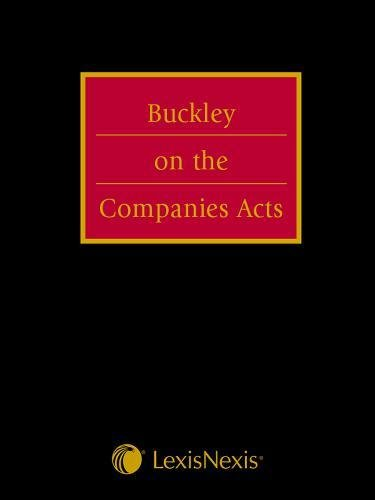 9780406141514: Buckley on the Companies Acts