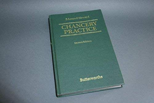 9780406148315: Chancery Practice