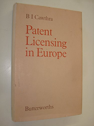 9780406148407: Patent Licensing in Europe
