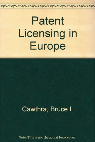 9780406148414: Patent Licensing in Europe