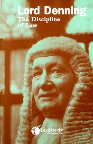 9780406176059: Lord Denning : The Discipline of Law