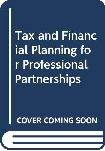 9780406190048: Tax and Financial Planning for Professional Partnerships