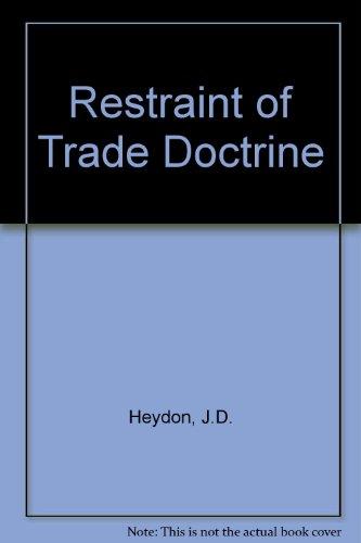 9780406225009: Restraint of Trade Doctrine